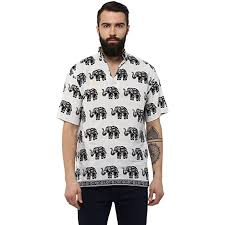 Buy Castor ® <b>Men's Loose Fit</b> Traditional Cotton Ohm Printed Short ...