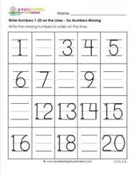 Kindergarten Worksheets Counting To 20#647000 - Myscres
