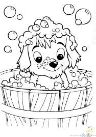 Coloring Pages With Dogs Mjsweddingscom