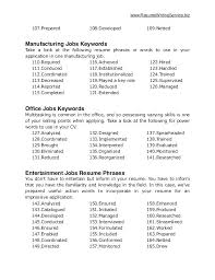 Resume Vocabulary Nmdnconference Com Example Resume And Cover Letter