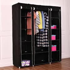 portable closet storage organizer portable closet storage organizer clothes wardrobe shoe rack w shelves black 53 portable closet storage organizer wardrobe