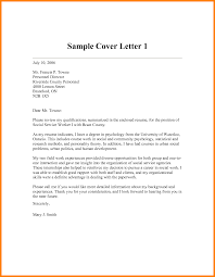 9 Social Work Cover Letter Sample Write Memorandum