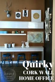 home office design quirky. Quirky Cork Wall Home Office Design S