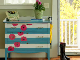 floral decoupage furniture. Decoupage Furniture Ideas Fresh How To Make A Striped And Floral Dresser Tos Diy N