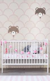 kids cream pop up bears wallpaper