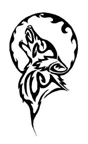 Lupo Tribale Tatuaggi E Luna Vinile Adesivo Adesivi Altezza 50
