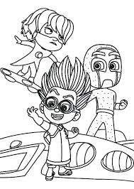 Pj Masks Coloring Pages Games Masks Coloring Sheets Pages Romeo Best