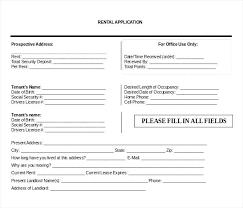 Rent Lease Application Form Generic Tenant Application Form Davidhdz Co
