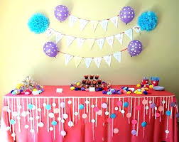 diy birthday party decorations bis decoration ideas for s