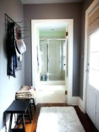 narrow entryway ideas small apartment with nice bench and coat rack within apartments for in