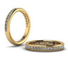 Diamond Channel Band 18k Yellow Gold Official Jewelry By Design