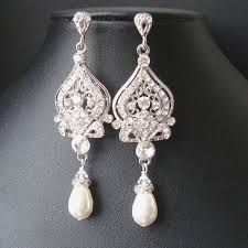 vintage bridal earrings chandelier wedding earrings art deco