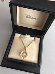 chopard rose gold pendant happy