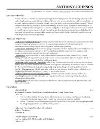 Resume Templates: Entry-Level Healthcare Administrator