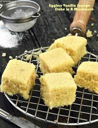 Eggless Vanilla Sponge Cake In A Microwave Recipe