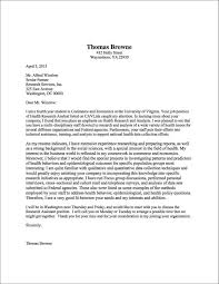 patriotexpressus mesmerizing cover letter sample uva career center patriotexpressus mesmerizing cover letter sample uva career center likable cover letter example thomas browne astonishing short two week notice