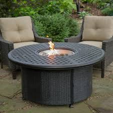red ember fremont 52 in round propane fire pit with wicker base fire pits at hayneedle