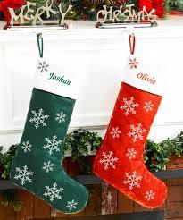 snowflake christmas stockings. Modren Snowflake Red Felt Personalized Christmas Stocking Snowflakes And Snowflake Stockings M
