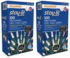 Sylvania Christmas Lights 3 Function Color Changing Stay Lit Sylvania Platinum 100 Count Color Changing Led Mini Dual Lights 33 Ft Length Single Pack