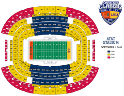 Seating Map Advocare Football Classic