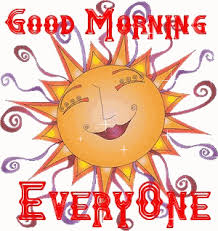 good morning every one
