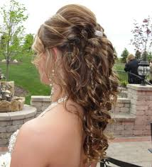 prom hairstyles for short hair half up half