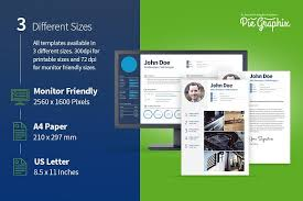 3 In 1 Resume Set (+ Screen Size) ~ Resume Templates ~ Creative Market