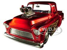 Buy 1955 Chevrolet Stepside Pickup Truck Candy Red W/blower 1/24 ...