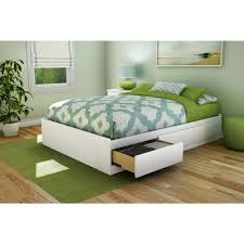 south s step one 3 drawer full size storage bed in pure white