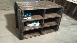 diy pallet shoe rack. Ultra Rustic Pallet Shoes Rack And Storage Unit Diy Shoe E