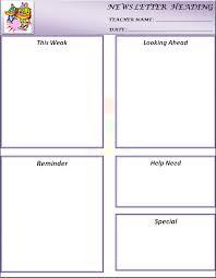 Monthly Newsletter Template For Teachers 24 Images Of Newsletter Template For Teachers Leseriail Com