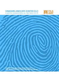 Charte Canadienne Du Paysage Aapc Csla