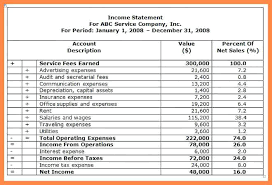 Sample Income Statement Gorgeous 48 Income Statement For Service Company Template Business