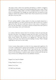 cover letter student cover letter examples college student creative resume ideas