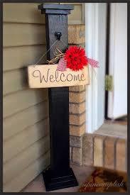 open front door welcome. Ipincomplish: Welcome Post And Sign! So Adorable! Outdoor Open Front Door