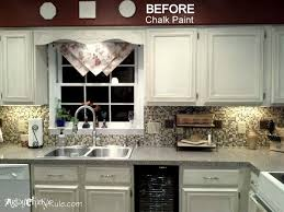 Kitchen Cabinet Makeover Annie Sloan Chalk Paint Artsy Chicks Rule Awesome Chalkboard Paint Backsplash Remodelling