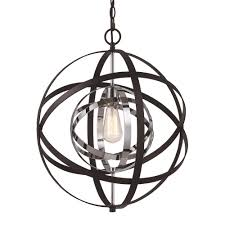 monrovia 1 light polished chrome and black pendant