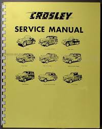1946 1952 crosley repair shop manual reprint all models