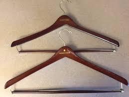 nordstroms lot of 2 wooden hangers mens suit brown jacket coat pants euc