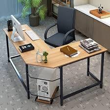 home office desktop pc 2015. Tribesigns Modern L-Shaped Desk Corner Computer PC Latop Study Table Workstation Home Office Wood \u0026 Metal Desktop Pc 2015