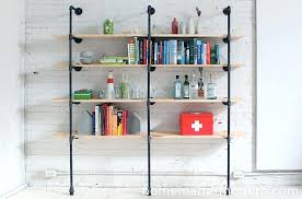 homemade modern diy pipe shelves 9 steps with pictures iron pipe shelving black iron pipe bookshelves