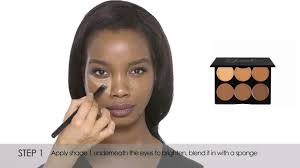how to cream contour highlight dark sleek makeup