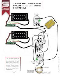 2 seymour duncan part 7 2 hum 2 triple shots 1 volume push pull phase 2 tone 3 way toggle