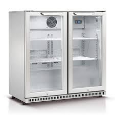190l double glass door drinks chiller