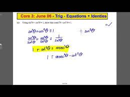 a level maths edexcel core 3 past paper question trig solving simple