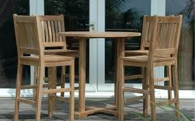 T Outdoor Bar Table And Chairs Teak 5 Piece Set 9 The  Backyard Bartender Brisbane