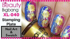 Review: <b>Beauty Bigbang</b> XL 040 Floral <b>Stamping Plate</b> ...
