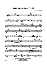 alto sax pink panther sheet music the pink panther 2nd e flat alto saxophone henry mancini gustaf