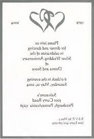 invitation cards for 25th wedding anniversary of pas awesome 25th silver wedding anniversary invitations of invitation