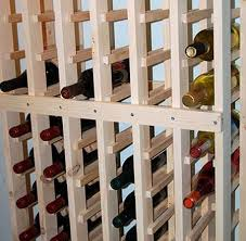 DIY wine rack. Looks a little like the ones at World Market. Simple and